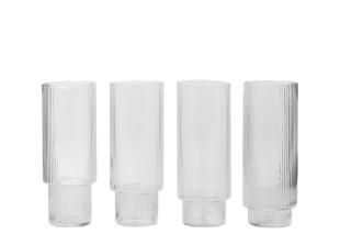 Ripple Longdrink-Gläser im 4er Set