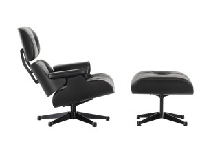 Lounge Chair & Ottoman Black