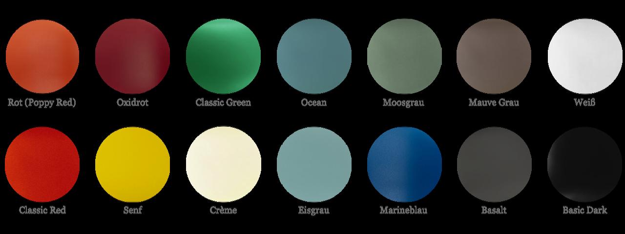 Übersicht der Farbvarianten der Vitra Plastic Chairs von Charles & Ray Eames