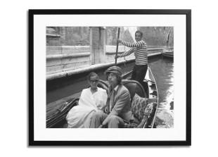Gerahmter Fotodruck Mick Jagger, Venice