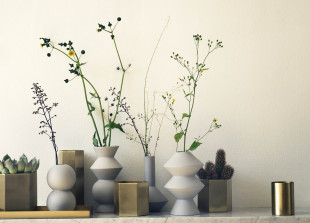Geometry Vase aus Porzellan