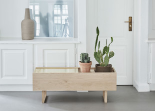 Eiche und Messing Sideboard