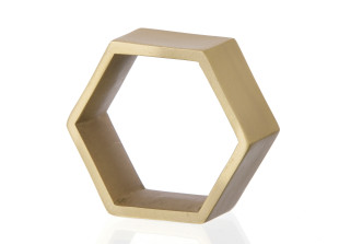 Hexagon Serviettenringe im 4er Set