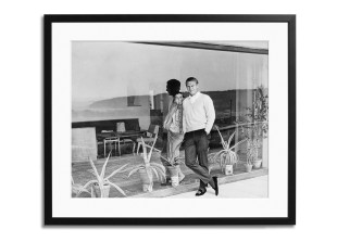 Gerahmter Fotodruck Steve McQueen and his wife