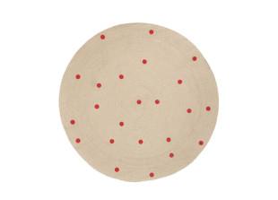 Dots runder Teppich