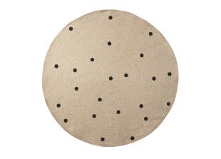 Black Dots runder Teppich