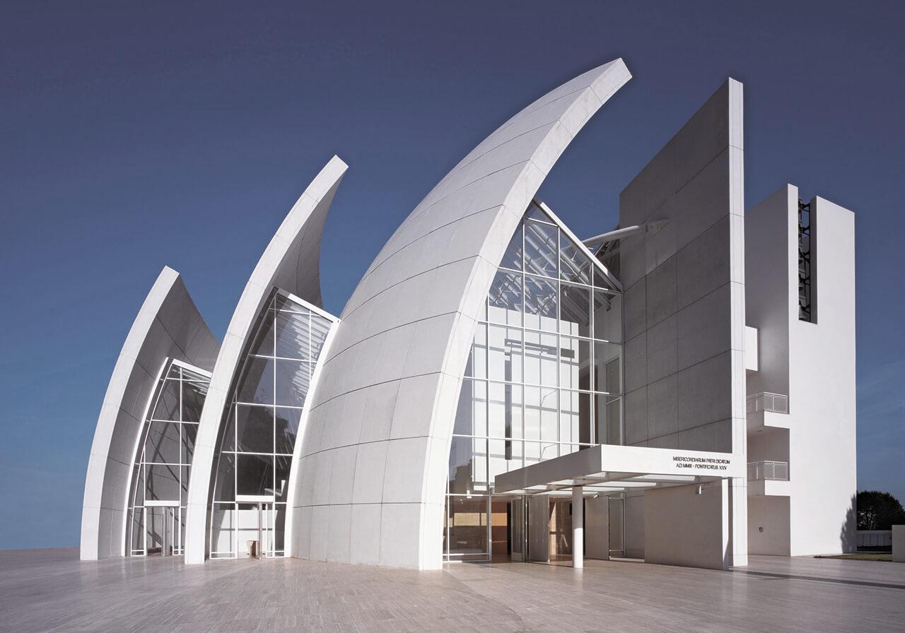 "Richard Meier's ""Kirche des Jahres 2000"" in Rom"