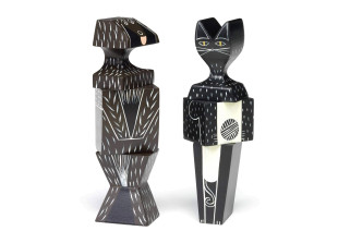 Cat & Dog Wooden Doll