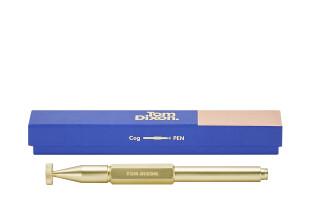 Cog Hex Kugelschreiber aus Messing
