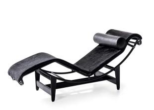 LC4 Noire Chaise Lounge